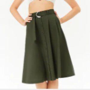 Belted Button Front Forever 21 Skirt